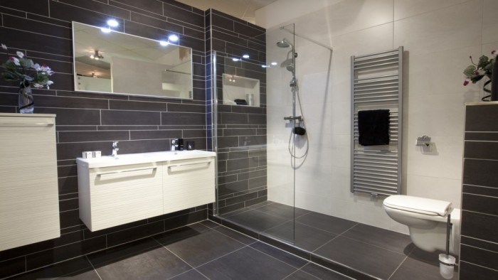 Badkamer inspiratie voor ons huisje beauty unboxing for Fotos wc hangen tegel