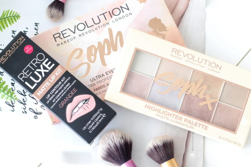 Makeup Revolution Eyeshadow Palette, Highlighter & Lip Kit