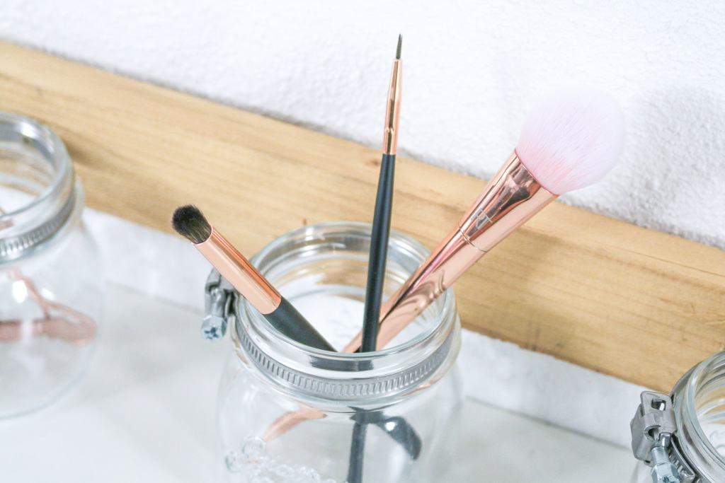 DIY make-up kwasten houder