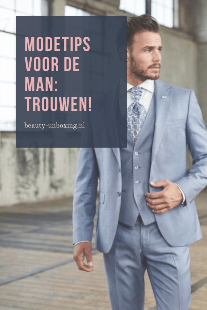 Modetips voor de man: trouwen!