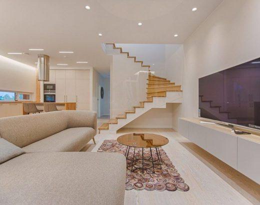 trap in een woonkamer