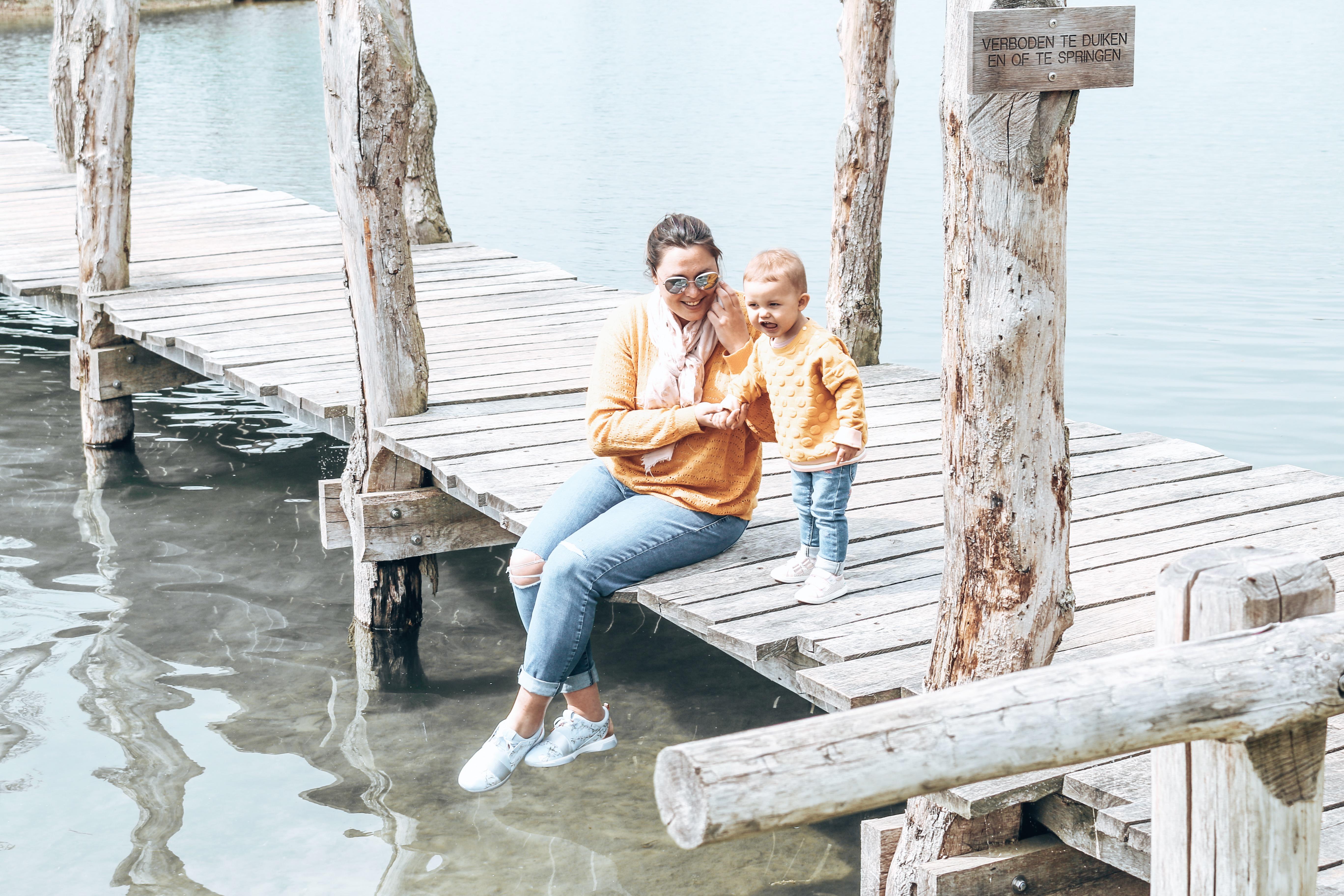 Twinnen met mijn dochter op de brug