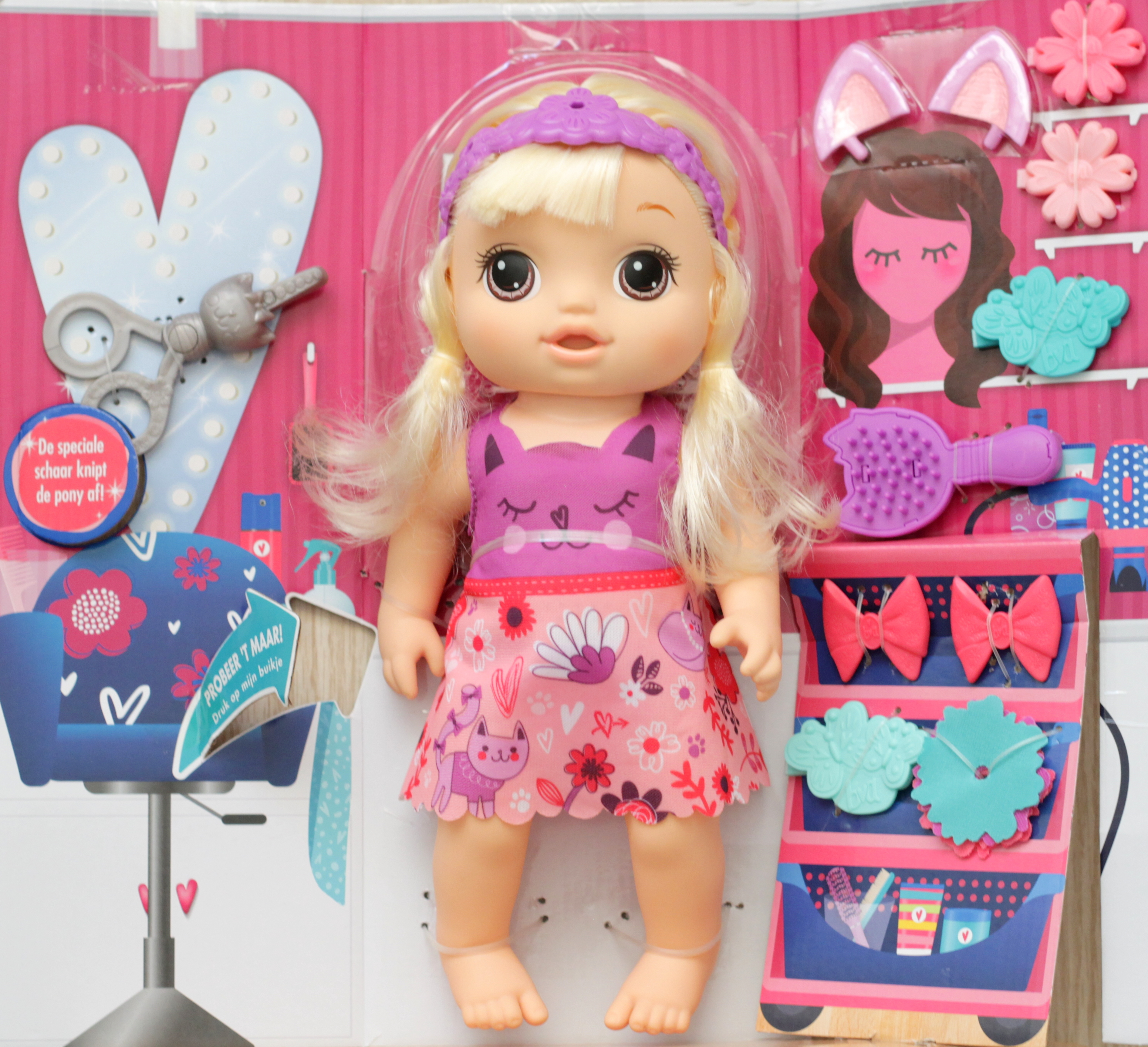 Baby Alive knip 'n Style babypop