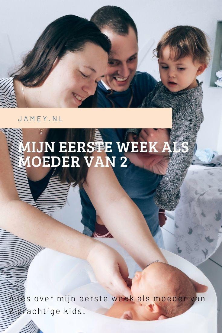 Mijn eerste week als moeder van 2
