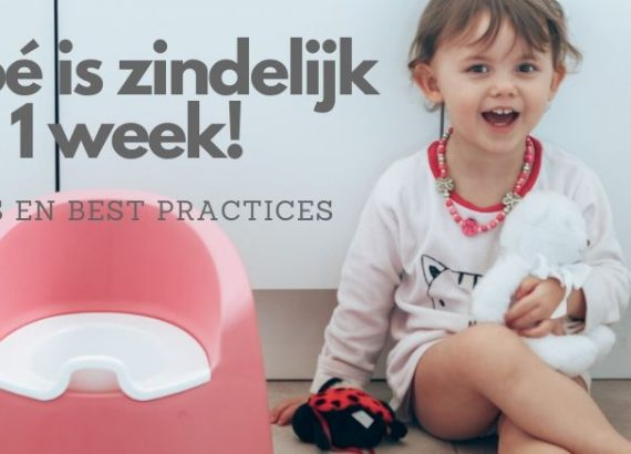 Noé is zindelijk na 1 week!