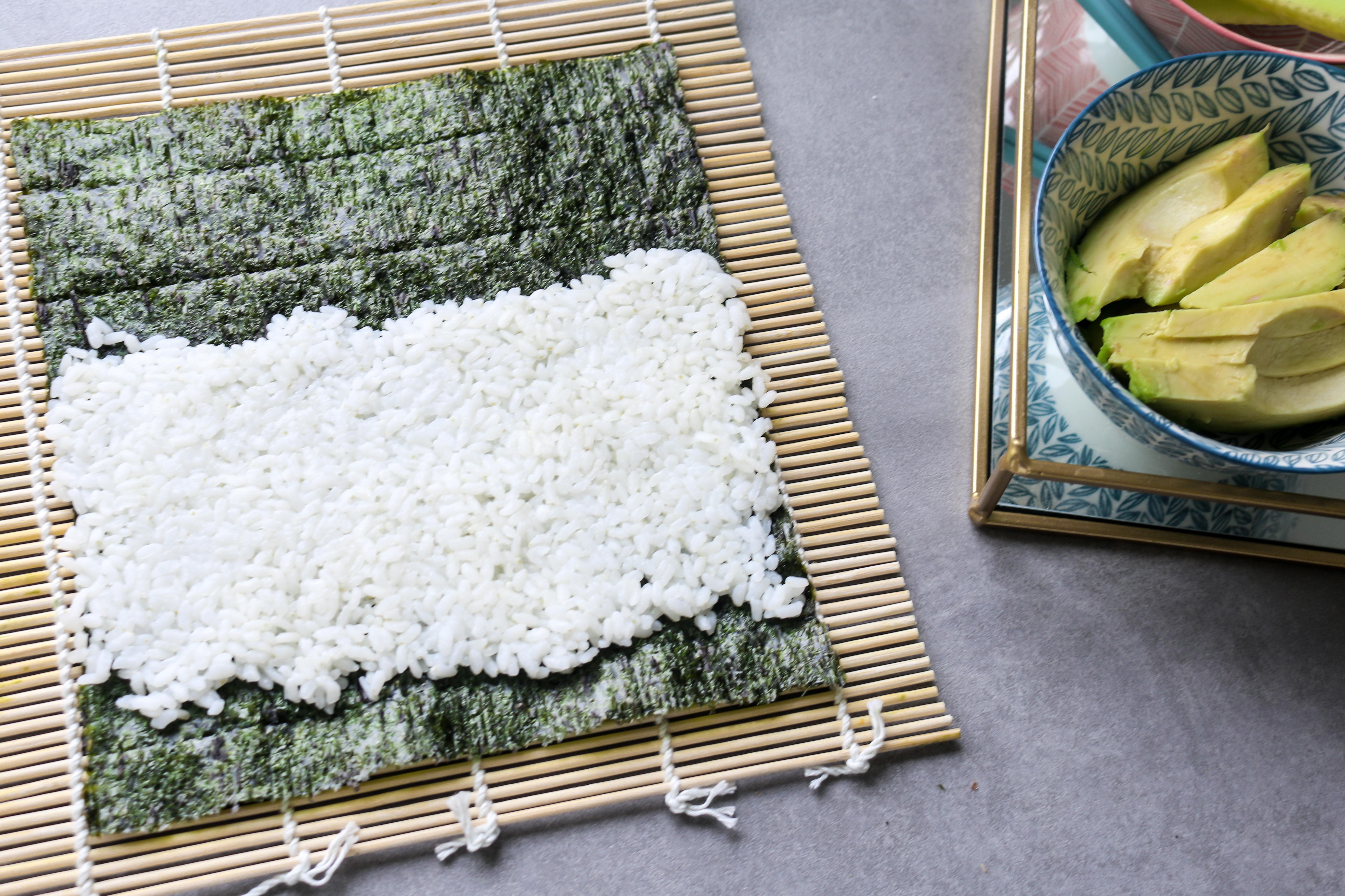 Sushi zelf maken voorbereiding