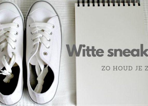 Zo houd je witte sneakers wit