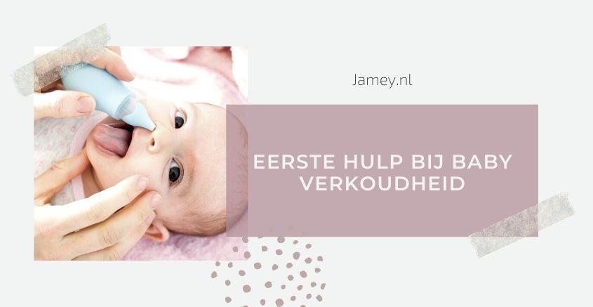 Eerste hulp bij baby verkoudheid banner