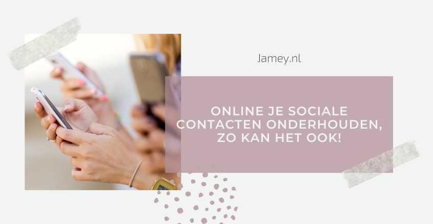 online sociale contacten onderhouden
