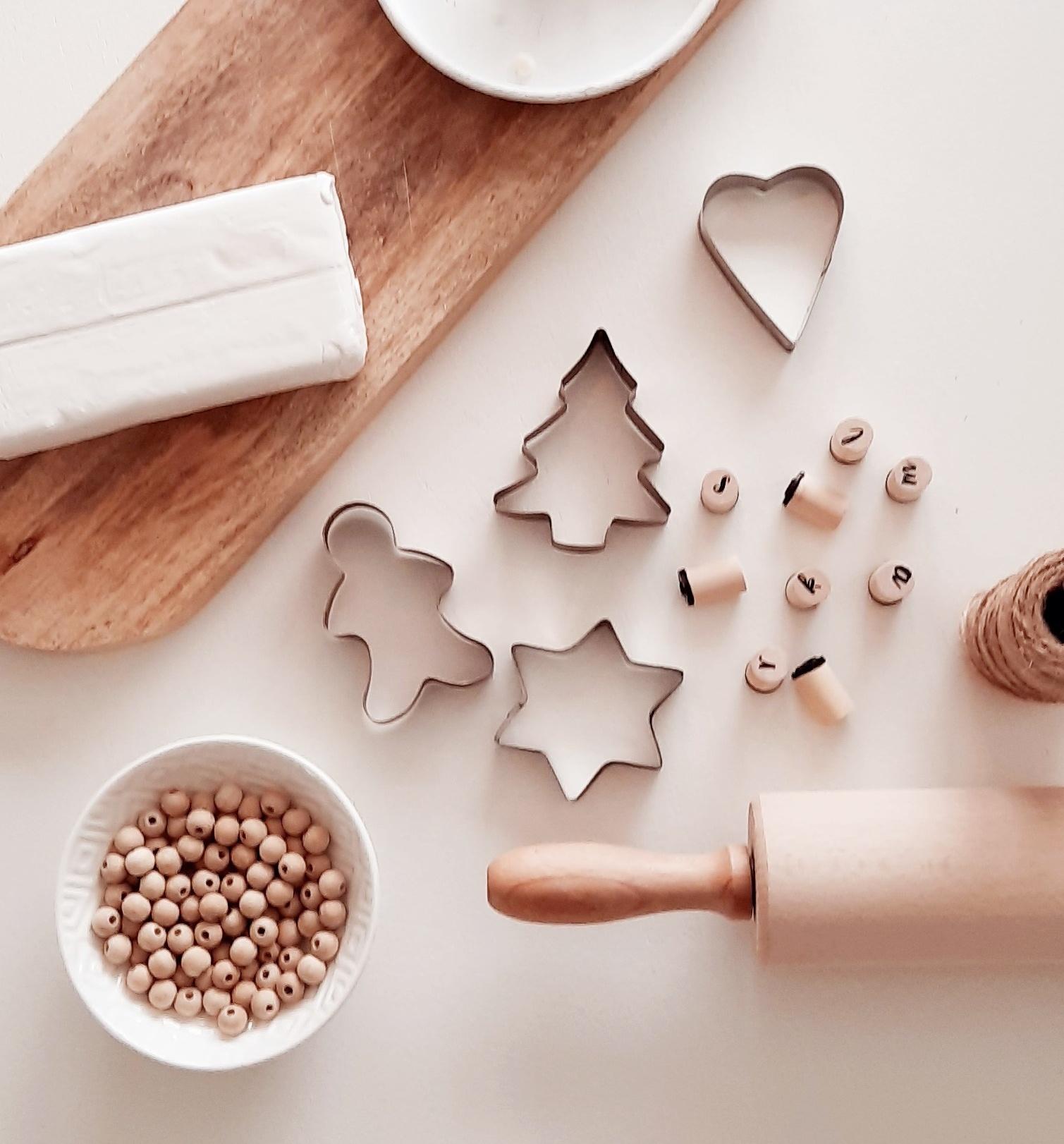 DIY Kersthangers & Droogbloemen in klei