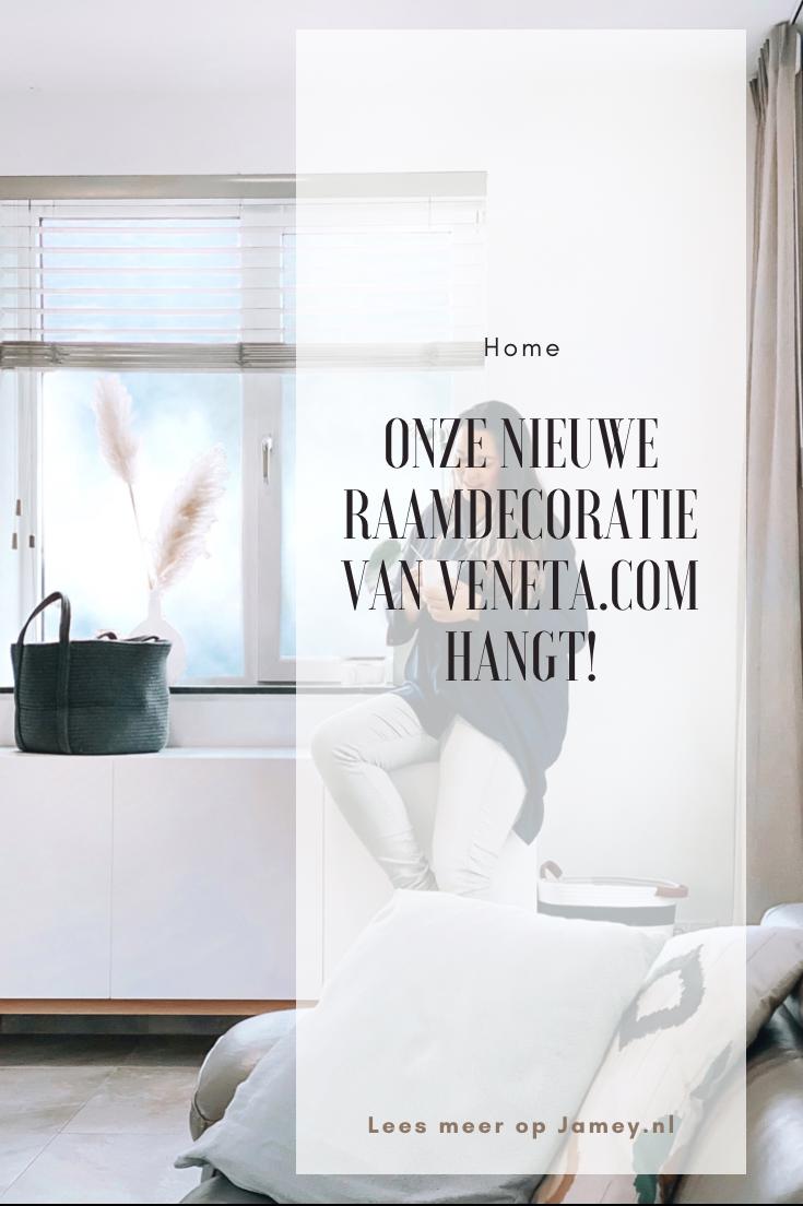 Onze nieuwe raamdecoratie van Veneta.com hangt!