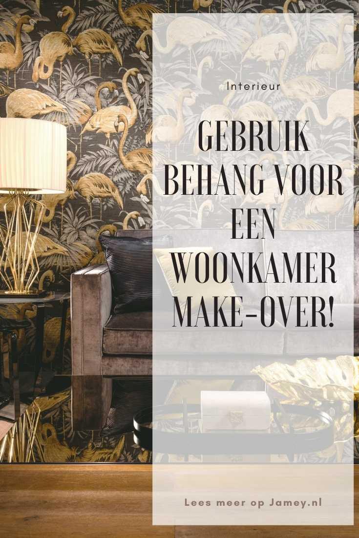 Gebruik behang voor een woonkamer make-over!