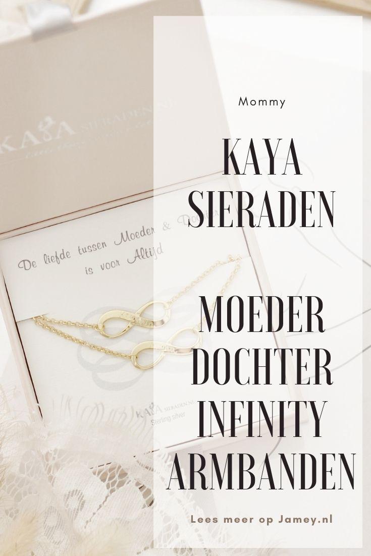 KAYA Sieraden Moeder Dochter Infinity Armbanden