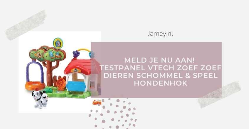 MELD JE NU AAN! Testpanel VTech Zoef Zoef Dieren Schommel & Speel Hondenhok