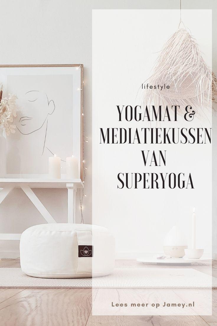 Yogamat & Mediatiekussen van SUPERYOGA