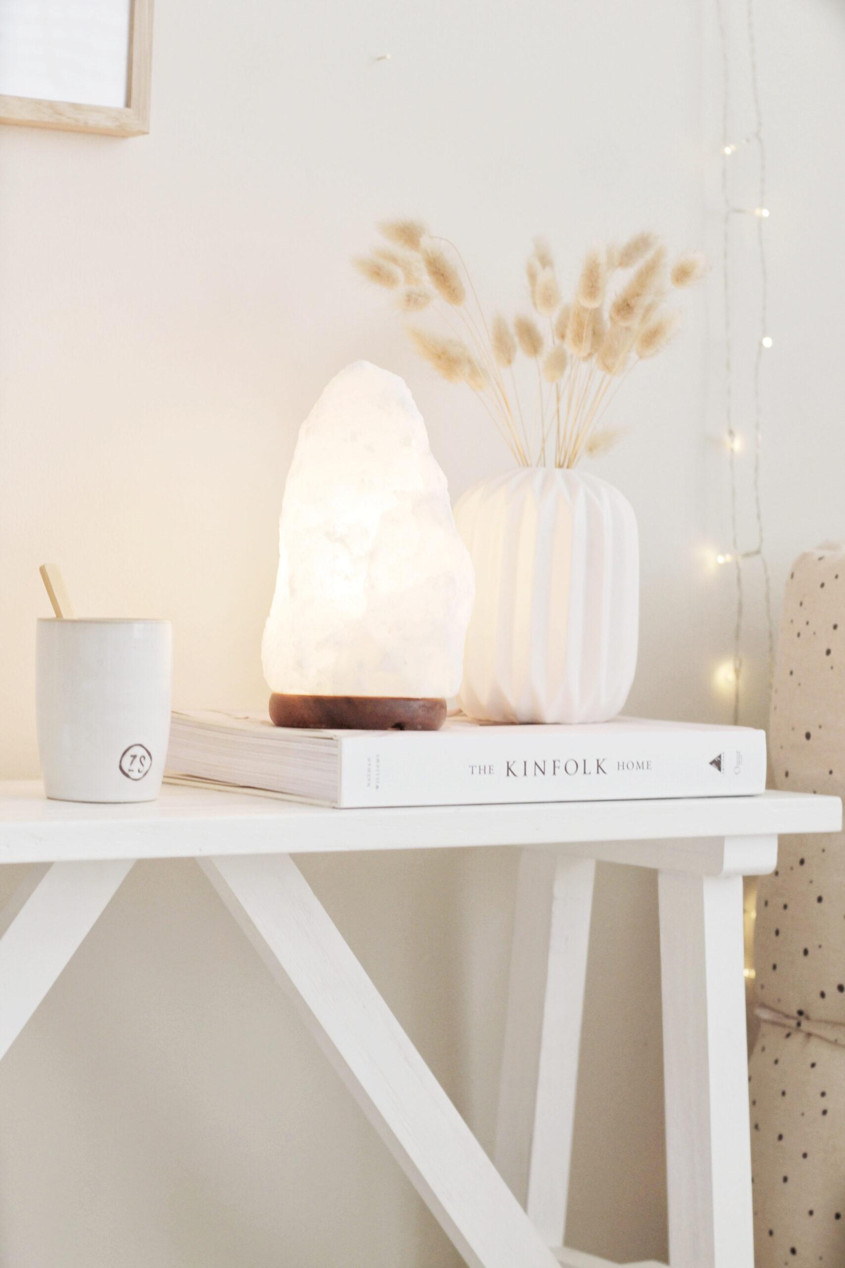 Witte Zoutsteenlamp