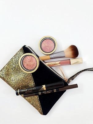 Make-up tasje gold